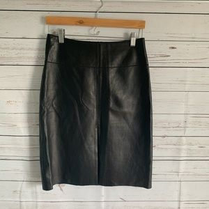 Bebe Leather Pencil Skirt Balck Size 4.